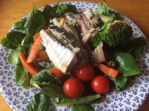 Sardine + salad